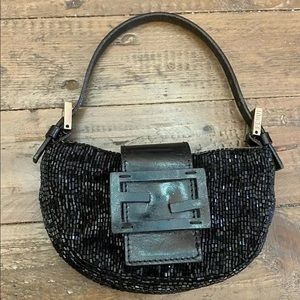 💯AUTH FENDI MINI CROISSANT BAG BEADED BAGUETTE 🌟
